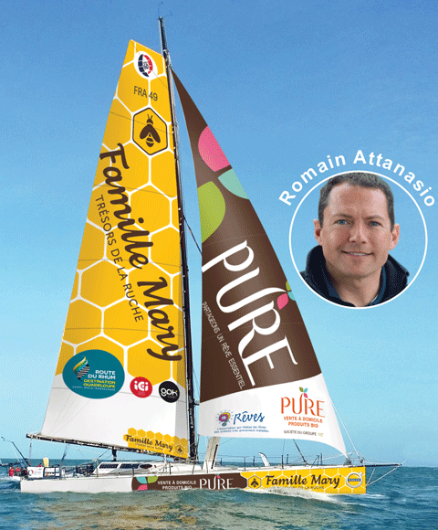 PURE partenaire du skipper Romain Attanasio